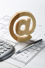 emailing your architecture plan and study