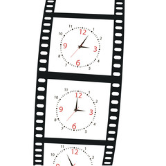 hours on a film shot.Vector illustration