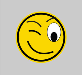 Winking - SMILEY FACE