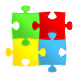 Abstract puzzle. Solution background.