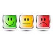 Smiley Button Set Quadratisch