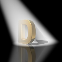 Alphabet  with letters D