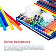 Colorful school background
