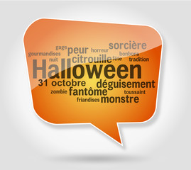 Bulle Nuage de mots Halloween