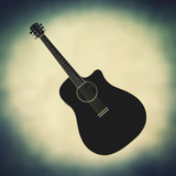 retro acoustic guitar