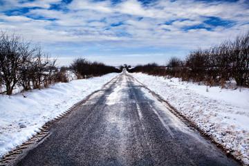 remote snow road