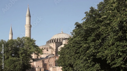 View of Hagia Sophia standing since 537. in Istanbul ,Turkey