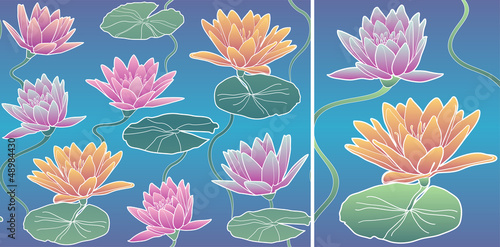 Vector Pattern Waterlily