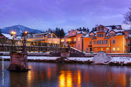 Spa resort Bad Ischl Austria at sunset