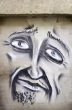 Fototapete Mann - Blick - Graffiti