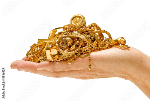 Big Handful Of Gold Jewelry