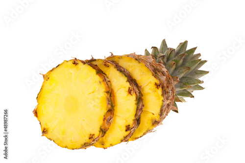canvas print picture Ananas Frucht in Scheiben