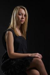Elegant young blonde woman