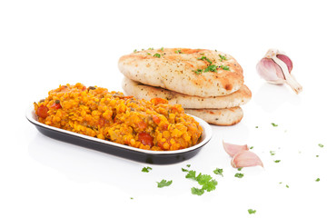 Dal with naan.