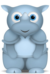 kleines blaues Nashorn