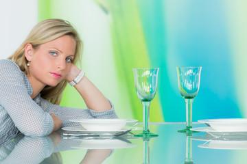 alleingelassen beim dinner
