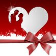 Brautpaar Karte mit Herzen
