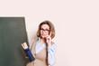 Lehrerin mit Brille