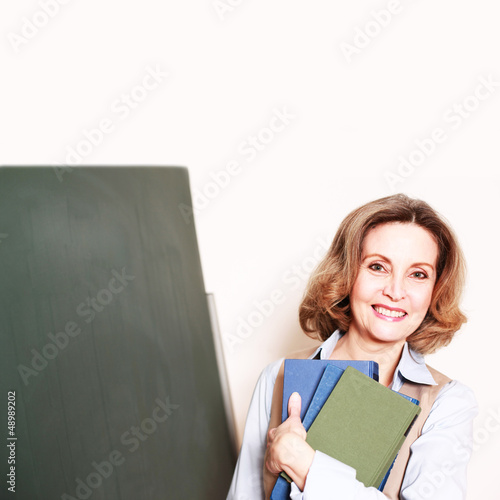 lachende Lehrerin