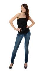 junge frau in jeans