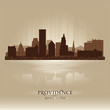 Providence, Rhode Island skyline city silhouette