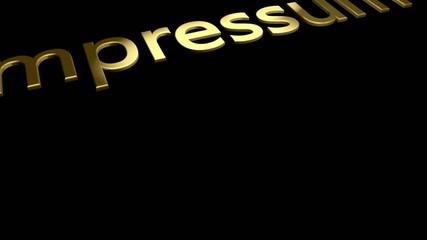 Impressum Goldschrift