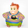 Cheerful Chubby Men