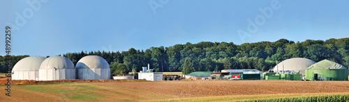 Bio fuel plant panorama. - 48992259