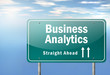 "Highway Signpost ""Business Analytics"""
