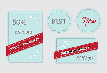 Blue retro vintage label Vector