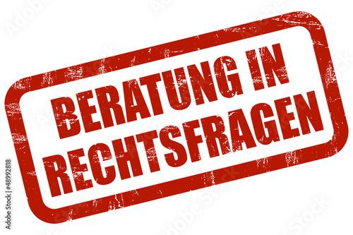 Grunge Stempel rot BERATUNG IN RECHTSFRAGEN