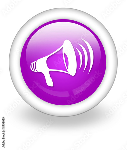 "Violet Icon ""Megaphone / Announcement Symbol"""