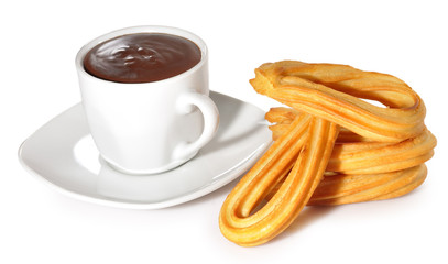 Churros con chocolate.