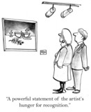 Two critics make comments on a painting poster
