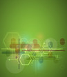 abstract blur green computer technology business background