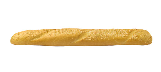 White french baguette bread with sesame