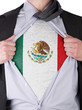 Business man with Mexican flag t-shirt
