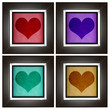 Modern love frame collection with heart design