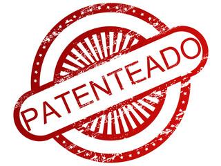 """Carimbo - Palavra """"patenteado"""""""