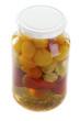 jar with vegetables