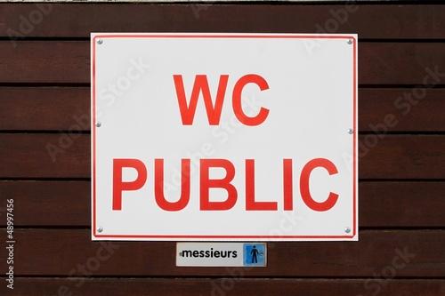 WC public ' messieurs '