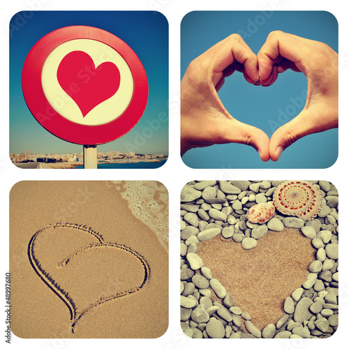 heart-shaped things collage