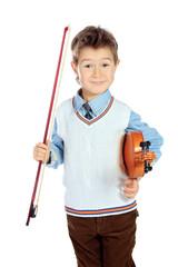 his violin