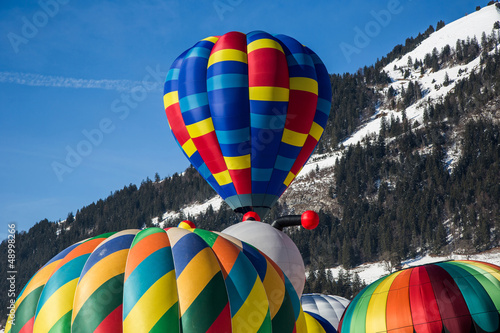 Foto op Aluminium Ballon 2013 35tth International Hot Air Balloon Festival, Switzerland,