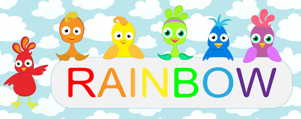 Birds rainbow