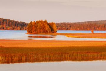 Lapland landscape in autumn