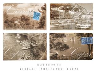 Alte Postkarten Capri