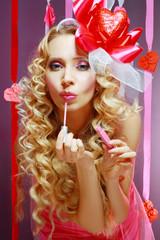 stylish valentine woman