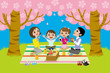 cherry-blossom viewing,family