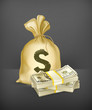Sack and money